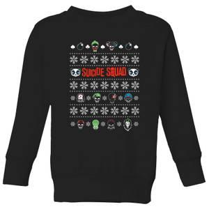 DC Suicide Squad Kids' Christmas Sweatshirt - Black