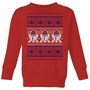 Star Wars R2-D2 Knit Kids' Christmas Sweater - Red