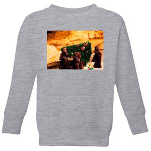 Star Wars Jawas Christmas Tree Kids' Christmas Sweatshirt - Grey