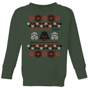 Felpa Star Wars Empire Knit Christmas - Forest Green - Bambini