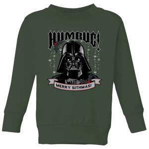 Star Wars Darth Vader Humbug Kids' Christmas Sweatshirt - Forest Green