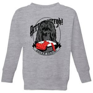 Star Wars Chewbacca Arrrrgh Socks Again Kids' Christmas Sweatshirt - Grey