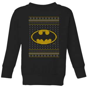 DC Batman Knit Kids' Christmas Sweatshirt - Black
