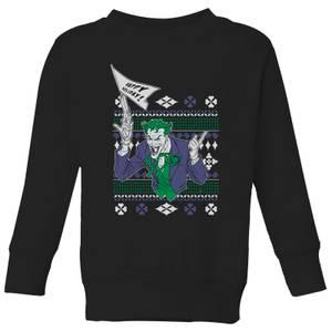 DC Joker Kids' Christmas Sweatshirt - Black