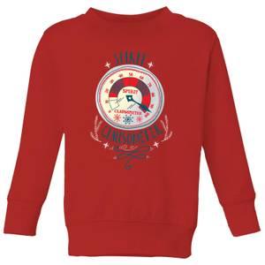 Elf Clausometer Kids' Christmas Sweatshirt - Red
