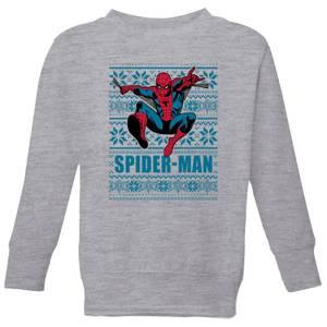 Marvel Spider-Man Kids' Christmas Sweatshirt - Grey