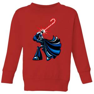 Star Wars Candy Cane Darth Vader Kids' Christmas Sweatshirt - Red