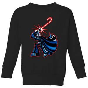 Star Wars Candy Cane Darth Vader Kids' Christmas Sweatshirt - Black