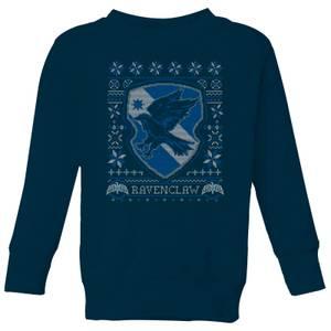 Harry Potter Ravenclaw Crest Kids' Christmas Sweatshirt - Navy
