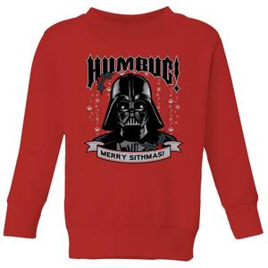 Star Wars Darth Vader Humbug Kids' Christmas Sweatshirt - Red