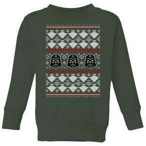Star Wars Imperial Darth Vader Kids' Christmas Sweatshirt - Forest Green