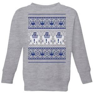 Star Wars R2-D2 Knit Kids' Christmas Sweatshirt - Grey