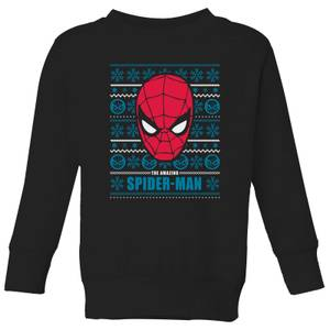 Marvel Spider-Man Kids' Christmas Sweater - Black