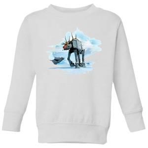 Star Wars AT-AT Reindeer Kids' Christmas Sweatshirt - White