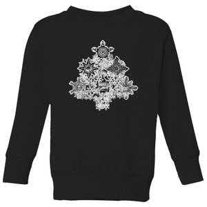 Marvel Shields Snowflakes Kids' Christmas Sweatshirt - Black