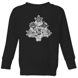 Marvel Shields Snowflakes Kids' Christmas Sweater - Black