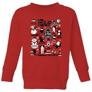 Elf Kids' Christmas Sweatshirt - Red