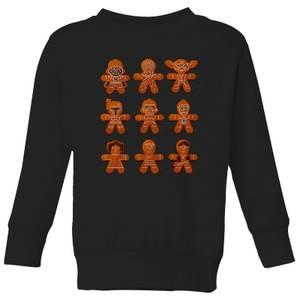 Star Wars Gingerbread Characters Kids' Christmas Sweatshirt - Black