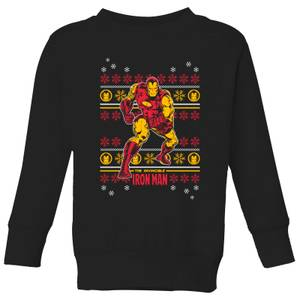 Marvel Iron Man Kids' Christmas Sweatshirt - Black