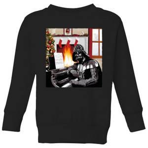 Star Wars Darth Vader Piano Player Kids' Christmas Sweatshirt - Black