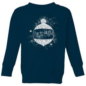 Harry Potter Yule Ball Baubel Kids' Christmas Sweatshirt - Navy