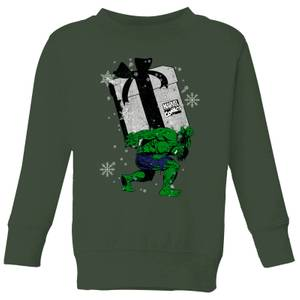 Felpa Marvel The Incredible Hulk Christmas Present Christmas - Forest Green - Bambini