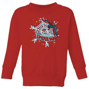 Marvel Spider-Man Kids' Christmas Sweatshirt - Red