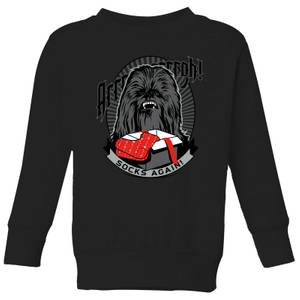 Star Wars Chewbacca Arrrrgh Socks Again Kids' Christmas Sweatshirt - Black