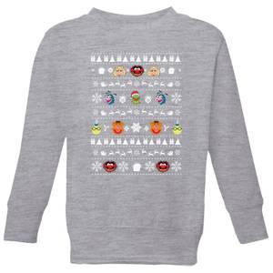 Muppets Pattern Kids' Christmas Sweatshirt - Grey