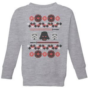 Star Wars Empire Knit Kids' Christmas Sweatshirt - Grey