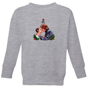 Star Wars Mistletoe Kiss Kids' Christmas Sweatshirt - Grey