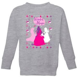 Disney Princess Silhouettes Kids' Christmas Sweatshirt - Grey