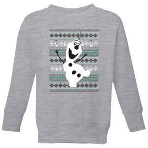 Disney Frozen Olaf Dancing Kids' Christmas Sweatshirt - Grey