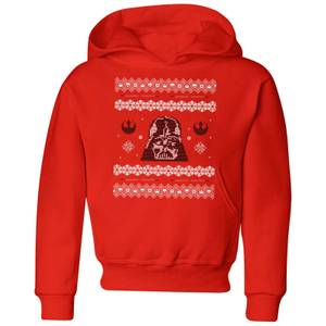 Star Wars Darth Vader Knit Kids' Christmas Hoodie - Red