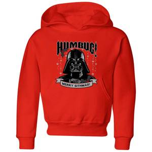 Star Wars Darth Vader Humbug Kids' Christmas Hoodie - Red