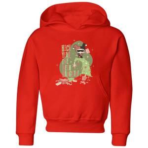 DC Heck Yeah I've Been Naughty! Kids' Christmas Hoodie - Red