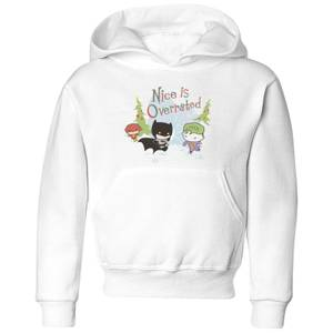 DC Nice Is Overrated Kids' Christmas Hoodie - White
