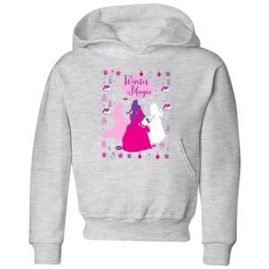 Disney Princess Silhouettes Kids' Christmas Hoodie - Grey