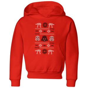 Star Wars Imperial Knit Kids' Christmas Hoodie - Red