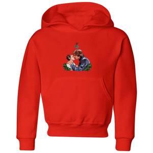Star Wars Mistletoe Kiss Kids' Christmas Hoodie - Red