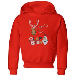 Disney Frozen Olaf and Sven Kids' Christmas Hoodie - Red