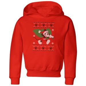 Disney Tree Mickey Kids' Christmas Hoodie - Red