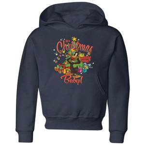 Looney Tunes Its Christmas Baby Kids' Christmas Hoodie - Navy
