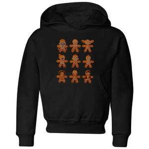 Star Wars Gingerbread Characters Kids' Christmas Hoodie - Black