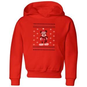 Disney Mickey Scarf Kids' Christmas Hoodie - Red