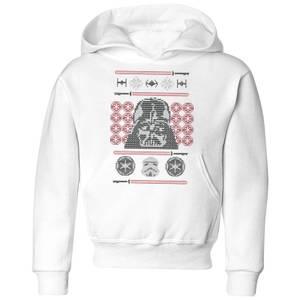Star Wars Darth Vader Face Knit Kids' Christmas Hoodie - White