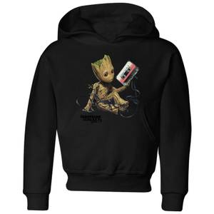 Guardians Of The Galaxy Groot Tape Kids' Christmas Hoodie - Black