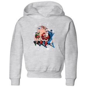 DC Batman Robin Santa Claus Kids' Christmas Hoodie - Grey
