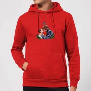 Star Wars Mistletoe Kiss Christmas Hoodie - Red