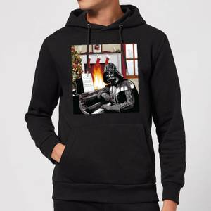 Star Wars Darth Vader Piano Player Christmas Hoodie - Black